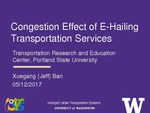 Network Congestion Effect of E-Hailing Transportation Services