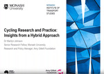 Cycling Research and Practice in Australia: Insights from a Hybrid Approach by Marilyn Johnson