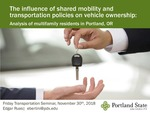 The Influence of Shared Mobility and Transportation Policies on Vehicle Ownership by Edgar Bertini Ruas