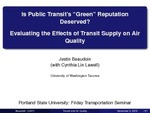 Is Public Transit's 'Green' Reputation Deserved? by Justin Beaudoin