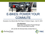 Webinar: Evaluation of an Electric Bike Pilot Project in Portland, Oregon
