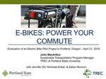 Webinar: Evaluation of an Electric Bike Pilot Project in Portland, Oregon by John MacArthur