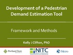 Webinar: Development of a Pedestrian Demand Estimation Tool