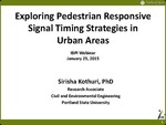 Webinar: Exploring Pedestrian Responsive Traffic Signal Timing Strategies in Urban Areas