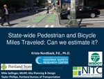 Webinar: State-Wide Pedestrian and Bicycle Miles Traveled: Can We Estimate It? by Krista Nordback