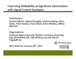 Webinar: Improving Walkability at Signalized Intersections with Signal Control Strategies