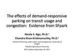 Webinar: The Effects of Demand-Responsive Parking on Transit Usage and Congestion: Evidence from SFpark