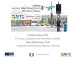 Webinar: Letting Bike Riders Catch the Green Wave by Stephen Fickas and Marc Schlossberg