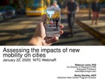 Webinar: Assessing the Impacts of New Mobility on Cities