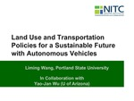Webinar: Land Use and Transportation Policies for a Sustainable Future by Liming Wang